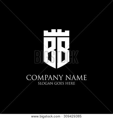 Bb Initial Shield Logo Design Inspiration, Crown Royal Logo Vector - Easy To Used For Your Logo