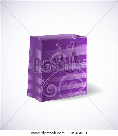 Violet shopping bag