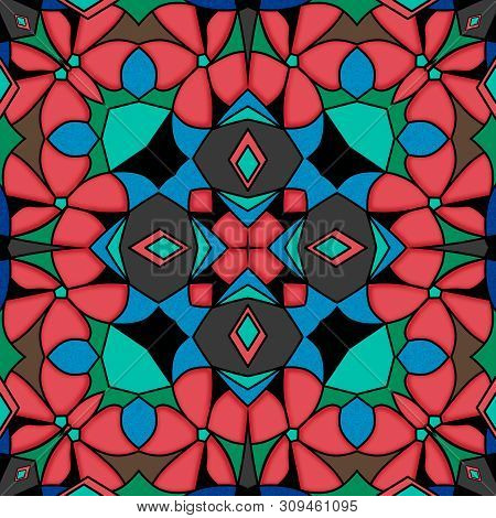 Vitrage Seamless Ornamental Abstract Pattern Background Asian