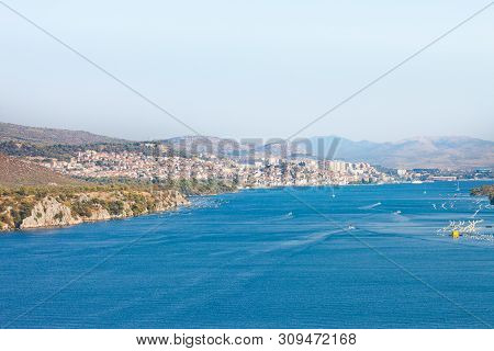 Sibenik, Croatia, Europe - View From The Sibenski Most Bridge Towards Sibenik
