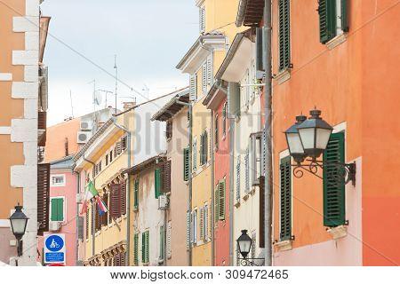 Rovinj, Istria, Croatia, Europe - Colorful Facades In The Streets Of Rovinj