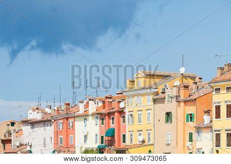 Rovinj, Istria, Croatia, Europe - Colourful Facades In The Old Town Of Rovinj