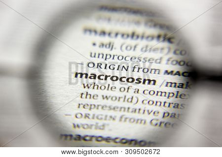 The Word Or Phrase Macrocosm In A Dictionary
