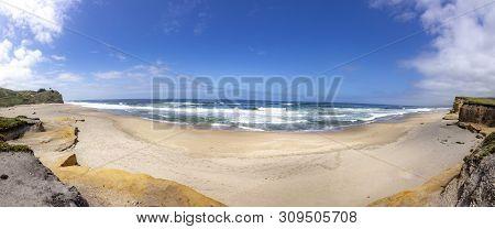 Scenic Beach At San Gregorio At California Highway No 1, Cabrillo Hwy, Usa