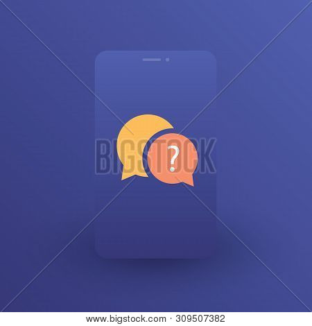 Chat App Logo Design Concept - Social Networking - Global Mobile Communication, Talk, Chatting In Th
