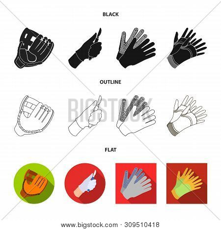 Vector Design Of Knitted And Keeper Icon. Set Of Knitted And Hand Vector Icon For Stock.