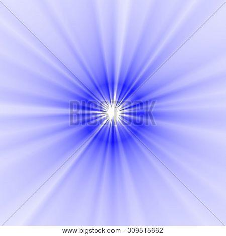 Radius Of Light Swallowtail Starburst Oblique Line Blue Color On White Background