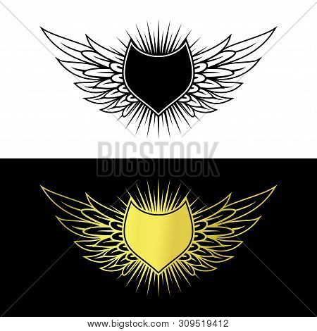 shield wing logo vector photo free trial bigstock shield wing logo vector photo free