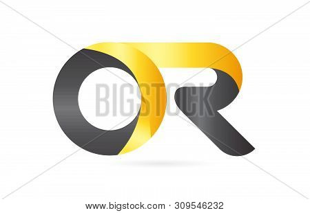 Joined Or Connected Or O R Yellow Black Alphabet Letter Logo Combination Suitable As An Icon Design