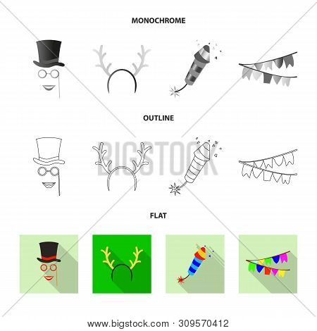 Bitmap Illustration Of Party And Birthday Icon. Collection Of Party And Celebration Stock Bitmap Ill