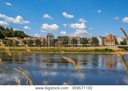 Former Fisherman's Houses On The The River Elbe