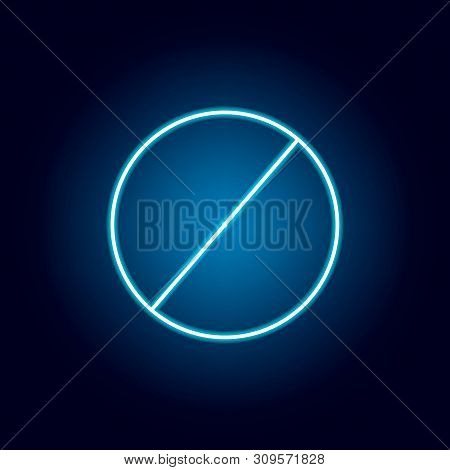 diameter of a circle icon in neon style. geometric figure element for mobile concept and web apps. thin line icon for website design and development, app development poster
