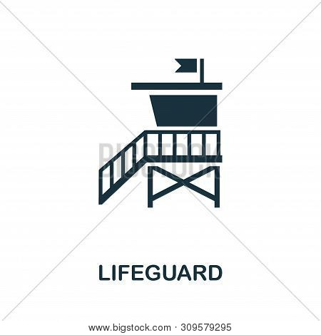 Lifeguard Vector Icon Symbol. Creative Sign From Icons Collection. Filled Flat Lifeguard Icon For Co