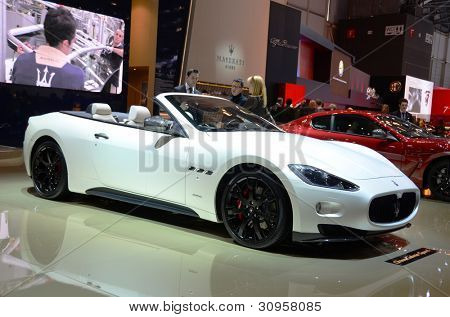 GENEVA - MARCH 12: Maseratti Gran Cabrio Sport at 82nd International Motor Show on March 12, 2012 in Geneva, Switzerland