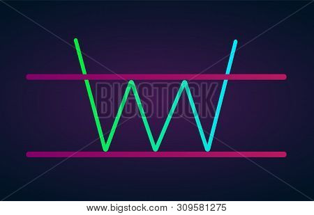 Tripple Bottom Pattern Figure Technical Analysis. Vector Stock And Cryptocurrency Exchange Graph, Fo