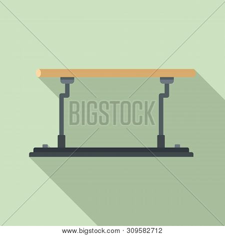 Parallel Bars Icon. Flat Illustration Of Parallel Bars Vector Icon For Web Design