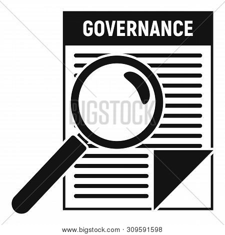 Governance Paper Icon. Simple Illustration Of Governance Paper Vector Icon For Web Design Isolated O