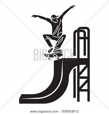 Skater Trick Icon. Simple Illustration Of Skater Trick Vector Icon For Web Design Isolated On White