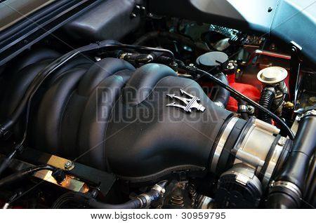 GENEVA - MARCH 7Maserati engine on display at the 82th International Motor Show Palexpo