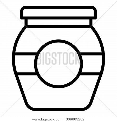Conservation Jam Jar Icon. Outline Conservation Jam Jar Vector Icon For Web Design Isolated On White