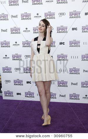 SANTA MONICA, CA - FEB 25: Joslyn Jensen at the 2012 Film Independent Spirit Awards on February 25, 2012 in Santa Monica, California