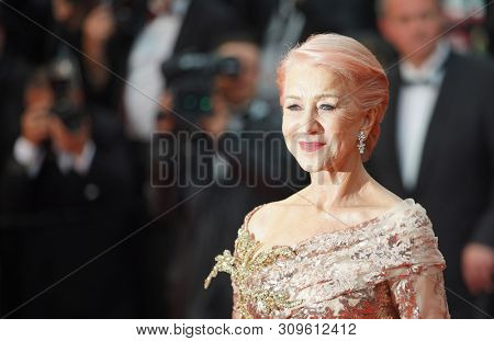 CANNES, FRANCE - MAY 18, 2019: Dame Helen Mirren attends the screening of