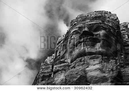 Angkor Wat Statue Rises Against Sky