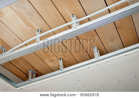 Electrical Wiring Installed In The Ceiling