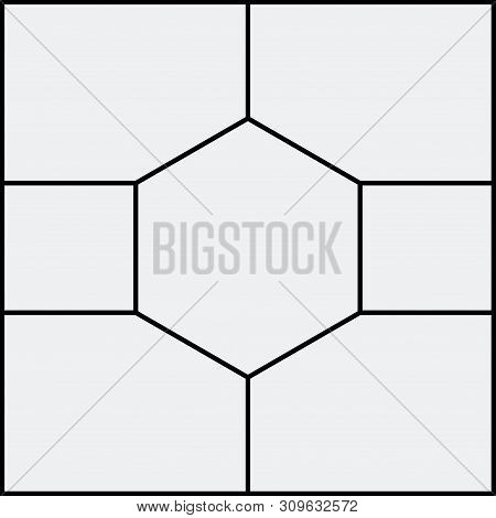 Montage Collage Photo Frame Template. Image Picture Background Montage Poster Design