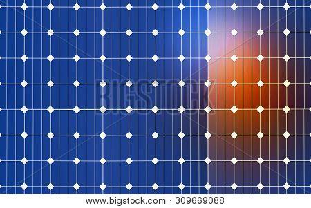 Clean Energy 3d Rendering. New Alternative Energy.