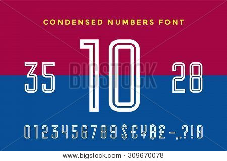 Numeric And Symbol Font. Sport Font With Numeric, Numbers