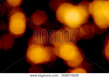 Amber Haze Blurred Out Of Focus Sunset Abstract Image.