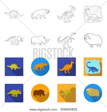 Vector Illustration Of Animal And Character Icon. Set Of Animal And Ancient Stock Vector Illustratio