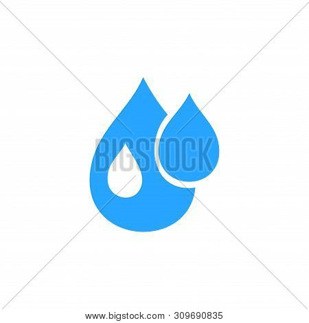 Water Drop Icon Isolated On White Background. Water Drop Icon Simple Sign. Water Drop Icon Trendy An