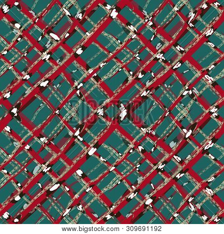 Abstract Art Coral Snakes And Jewelry Vector Seamless Pattern. Animal Reptilian Checkered Background