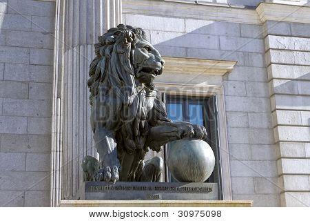 Lion Of The Congreso De Los Diputados