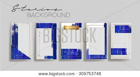Set of instagram Templates.Vector Layout. Design backgrounds for social media banner.Set of  stories frame templates. Mockup for social media.