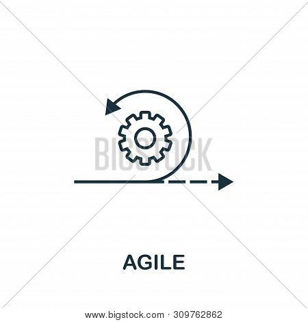 Agile Outline Icon. Thin Line Concept Element From Content Icons Collection. Creative Agile Icon For