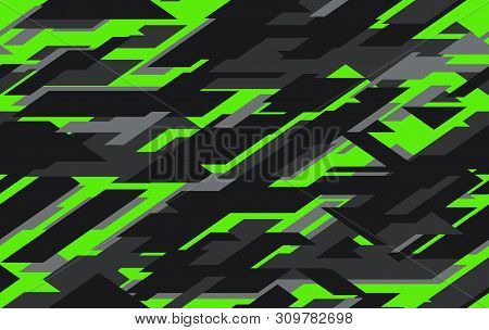 Modern Military Camo Texture Style Background. Geometric Camouflage Seamless Pattern.