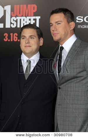 LOS ANGELES - MAR 13:  Jonah Hill, Channing Tatum arrives at the