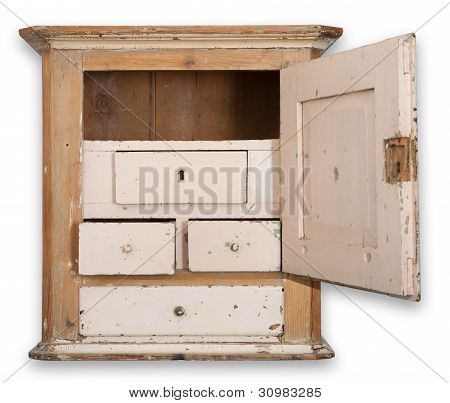 Wall Cupboard Cabinet Isolated