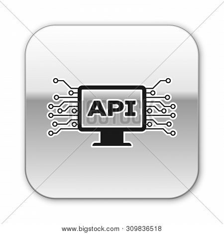Black Computer Api Interface Icon Isolated On White Background. Application Programming Interface Ap