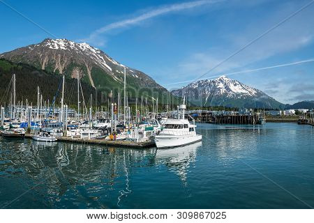 Seward, Alaska - June 7 - The Marina On Resurrection Bay As Seen On June 7 2019 In Seward Alaska.