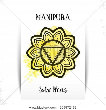 Chakra Manipura. For Greeting Cards, Packaging Or Poster Design , T-shirt Print Design. Vector Illus