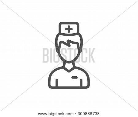 Doctor Line Icon. Medicine Drugs Sign. Pharmacy Medication Symbol. Quality Design Element. Linear St