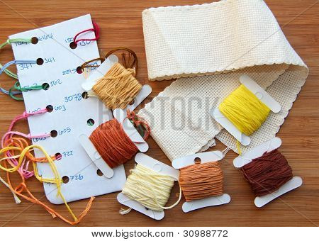 Cross-stitching set