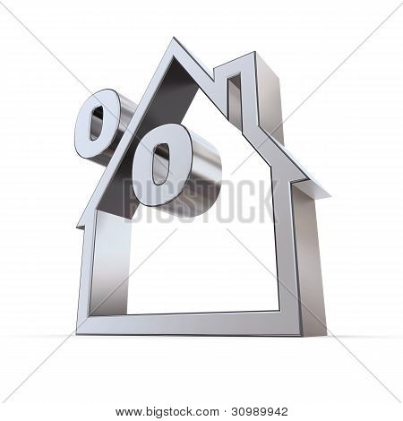 Percent Symbol In A House