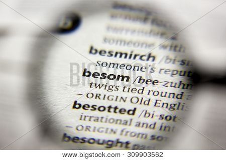 The Word Or Phrase Besom In A Dictionary