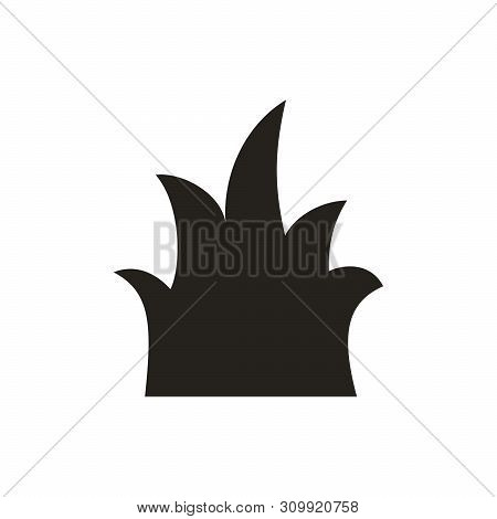 Grass Icon Vector Isolated On White Background, Grass Icon Vector Design, Grass Icon Black, Grass Ic