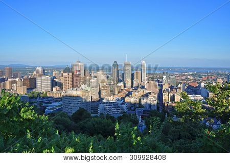 Montreal City Skyline From Parc Mont-royal (mont-royal Park), Quebec, Canada.